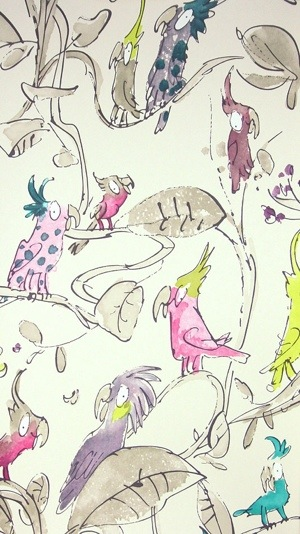 zagazoo cockatoos Quentin Blake wallpaper osbourne and little
