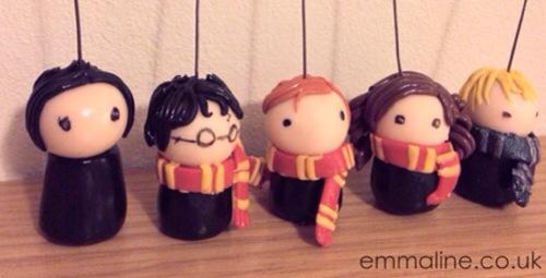 Harry potter chibi Weasley Hermione hogwarts
