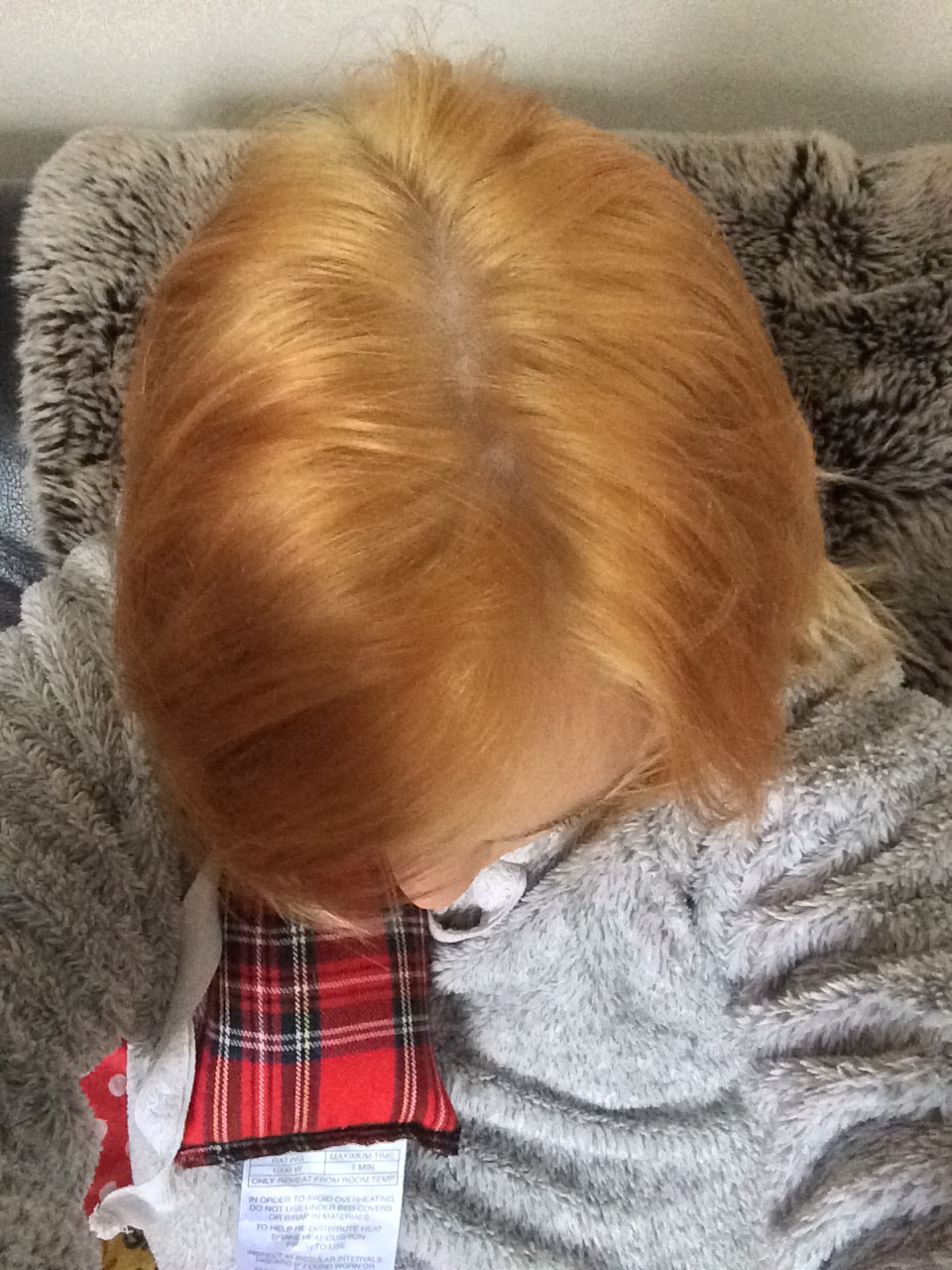 Ginger brassy hair after bleaching