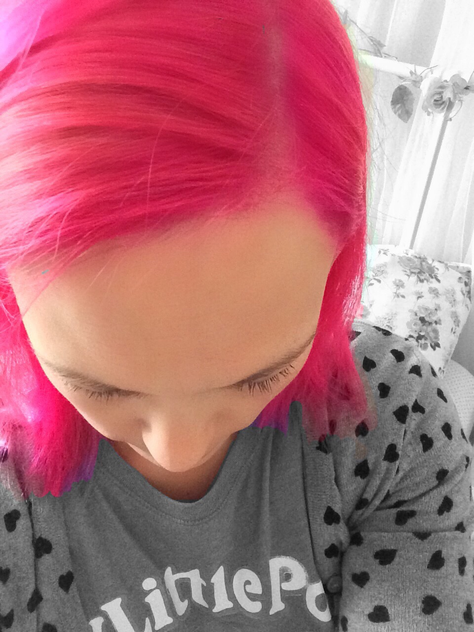 Directions in tulip pink hair dye