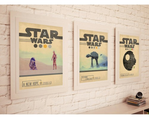 Star Wars quote prints painting retro trilogy