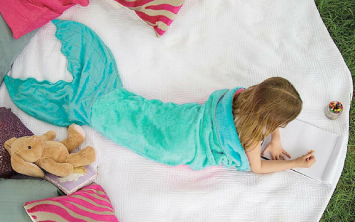 Blankie Tails fleece mermaid tail blanket