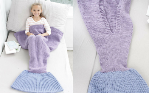 Drops mermaid tail pattern