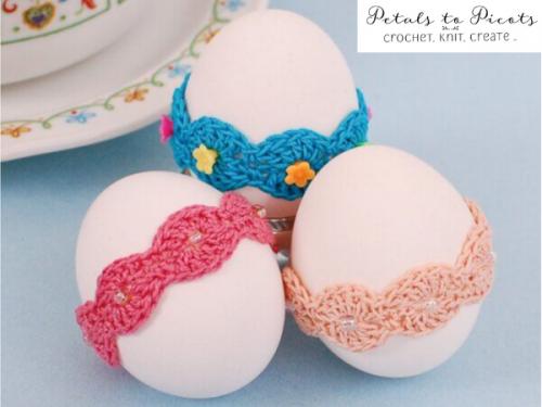 Crochet Easter egg bands